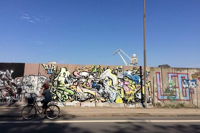 Graffiti sul muro a Odense