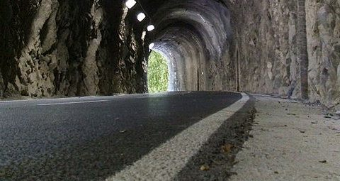 galleria della pista ciclabile della Val Brembana
